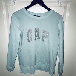 Light blue Gap crew neck sweater